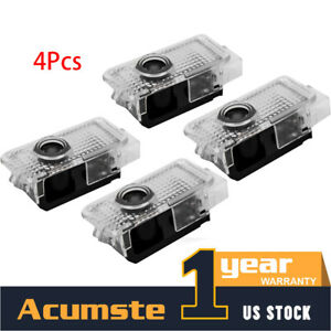 4pcs Led Door Lights For Audi Logo Welcome Light Courtesy Lamp Laser Projector
