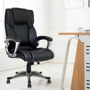 Office Chair Adjustable Executive Leather Ergonomic Chairs Comfortable Armchair