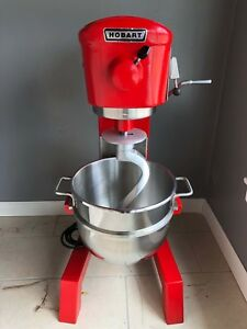 Used Hobart 30qt Commercial Mixer New S Steel Bowl New Hook Free Shipping