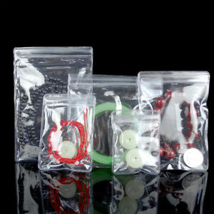 Clear Pvc Jewelry Anti oxidation Zip Lock Bags Plastic Jade Pearl Pouches
