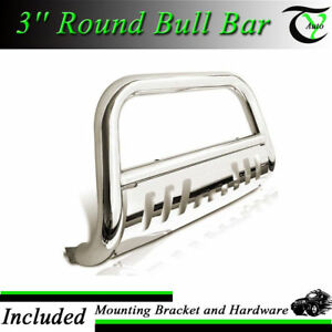 For 2004 2018 Ford F150 Stainless Bull Bar W Skid Plate Brush Push Grille Guards