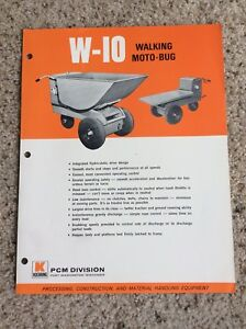 1960s Koehring Pcm Division Walking Moto bug Construction Equipment Sales Lit