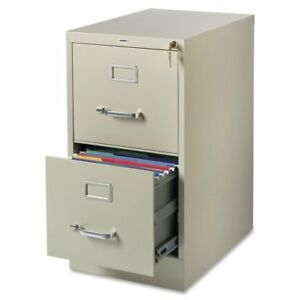 Lorell 2 drawer Vertical File 15 By 22 By 28 Putty