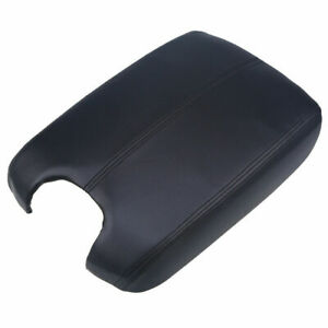 Black Replace Car Armrest Cover Center Console Leather For Honda Accord 2008 12