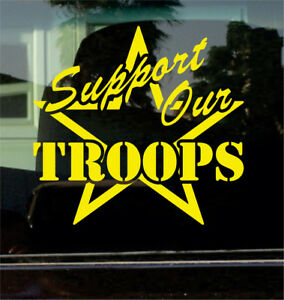 Support Our Troops Vinyl Decal Sticker Military Family Armed Forces