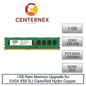 1gb Ram Memory For Evga X58 Sli Classified Hydro Copper 141ble769a1 Ddr38500 By