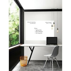 White Giant Decal Dry Erase Adhesive Repositionable Wall Decor 42 In X 54 In New
