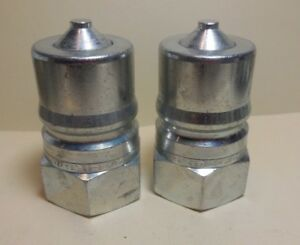 2 Pcs Parker Hdh8 63 1 npt Quick Coupling Hydraulic Nipple new