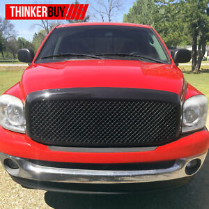 Rivet Grille For Dodge Ram 1500 Black Ss Wire Mesh Grille Shell 2006 2007 2008