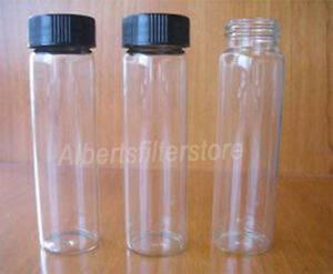 40ml Clear Borosilicate Glass Bottle Storage Vials Cap Set Lab Hplc Gc Analysis