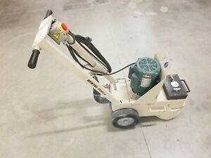 Edco 10 Concrete Floor Grinder Scariffier Refurbished New Motor Bearing Belt
