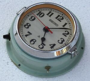 Vintage 1980 S Slave Maritime Clock Nautical Ship Seiko Quartz Made In Japan