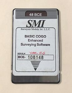 Smi 48 Bce Cogo Card For Hp 48gx Calculators