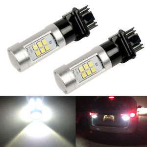 Total 2200lm 6000k White High Power 3156 3157 Led Reverse Backup Light Bulbs
