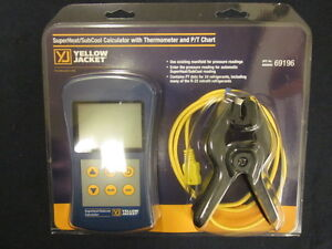Yellow Jacket Superheat subcool Calculator W Thermometer P t Chart 69196