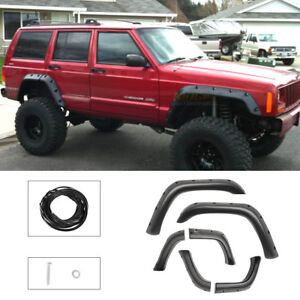 Pocket Offroad Wheel Wide 5 Inch Fender Flares For 1984 2001 Jeep Cherokee Xj