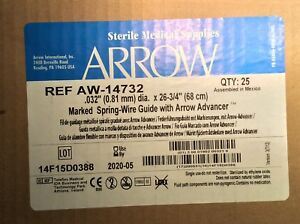 Spring wire Guide With Arrow Advancer Maximum Od Per Iso 11070 0 82 Mm 25 case