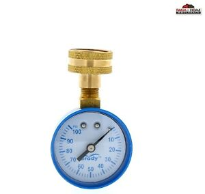 Brady Water Pressure Test Gauge 0 100 Psi 3 4 New