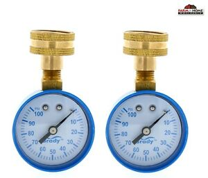 2 Brady Water Pressure Test Gauge 0 100 Psi 3 4 New