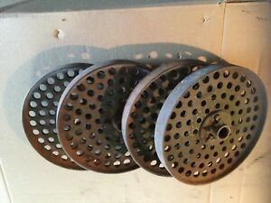 4 Ea Cast Iron Wheels Factory Cart Industrial Steampunk Hit And Miss Farm