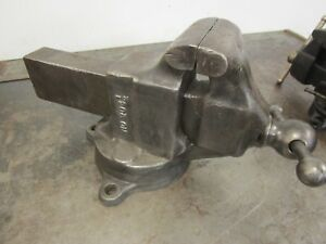 Vintage Reed 204 1 2 Machinist Swivel Bench Vise 4 1 2 Jaw Antique Tools