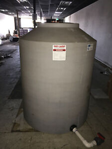 400 Gallon Cylinder Poly Water Storage Tank Tanks Vertical Chem tainer