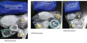 Manual Resuscitator Ambu Bag Oxygen Tube Cpr First Aid Kit Adult Child Infant