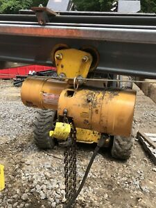 Budgit 1 2 Ton Electric Chain Hoist With Trolley
