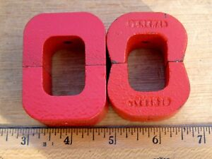 Lot Of 4 Alnico 5 Horseshoe Magnets Red 6 Oz 7 Oz General