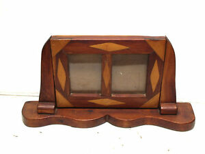 Antique Walnut And Maple Hand Made Folk Art Picture Frame C 1920