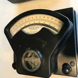 Weston Model One Volt ammeter Set Complete W 2 Shunts 50 Mv Working
