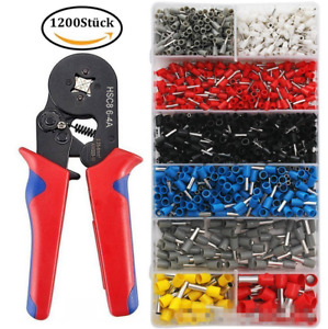 Wire Crimping Tool Kit 1200pc Terminal Connector Sleeve Ferrule Crimper Pliers