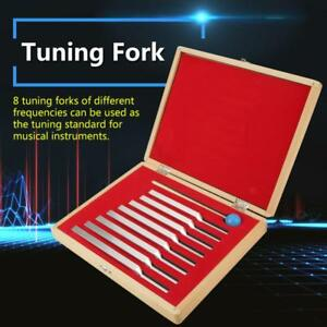 8pcs Aluminum Medical Tuning Fork Chakra Heal Sound Vibration Therapy mallet box