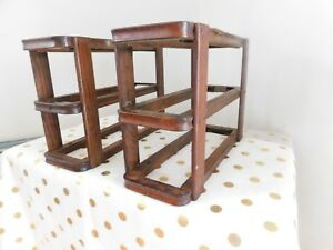 Antique Treadle Singer Sewing Machine Wood Wooden Rack Set F 06