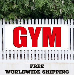 Banner Vinyl Gym Advertising Sign Flag Program Nutrition Exercise Core Crossfit