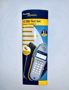 Fluke Networks Test Set Ts 25d Ts25d New In Box 346a Plug Phone Data Tone Dsl