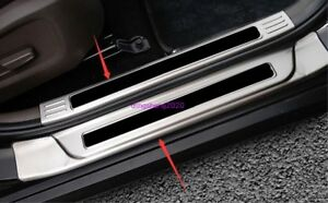 Black Stainless Welcome Pedal Door Sill Scuff Trim Panel For Kia Sportage R 2018