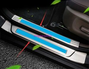 Stainless Steel Welcome Pedal Door Sill Scuff Trim Panel For Kia Sportage R 2018