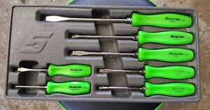 Snap on Green Hard Handle 7 piece Screwdriver Set Sddx70ag 2