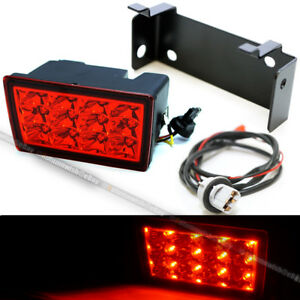For 11 18 Wrx Sti F1 Red Lens Red Led Flasher 3rd Brake Light Lamp W Harness