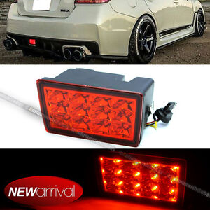 For 11 16 Wrx Sti Xv F1 Style Red Lens Red Led Flasher 3rd Brake Light Lamp