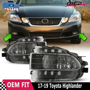 For Lexus Gs 06 11 Bumper Driving Fog Lights Lamps Replacement Pair Dot Clear