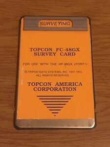 Topcon Fc 48gx Surveying Card For Hp 48gx Calculator