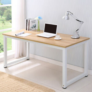 Computer Desk Wood Pc Laptop Table Workstatio n Study Home Office Furniture