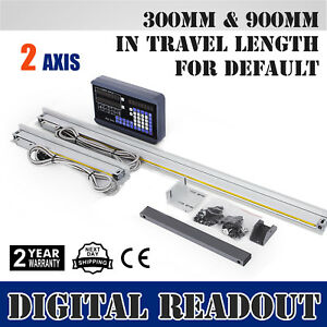 2 Axis Digital Readout Dro W 2 Linear Scale Inclined Plane 8 Digits 300 900mm
