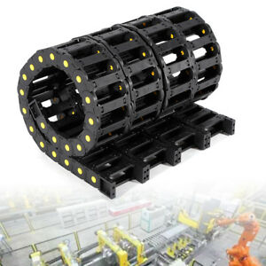 4x Cable Drag Chain Wire Carrier For Cnc Machine Length 1m Nylon Pa66 25x75mm Us