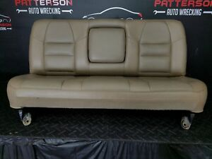 2003 Ford F250 Sd Pickup Lariet Crew Cab Rear Leather Seat Parchment