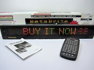 Betabrite Electronic Colour Message Display Sign Original Box With Remote