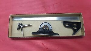 Excellent Usa Made Starrett 18 Inch Combination Square Set machinist Welding