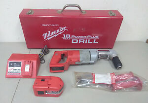 f97813 Milwaukee 1109 20 18v Cordless 1 2in D handle Drill W right Angle Drive